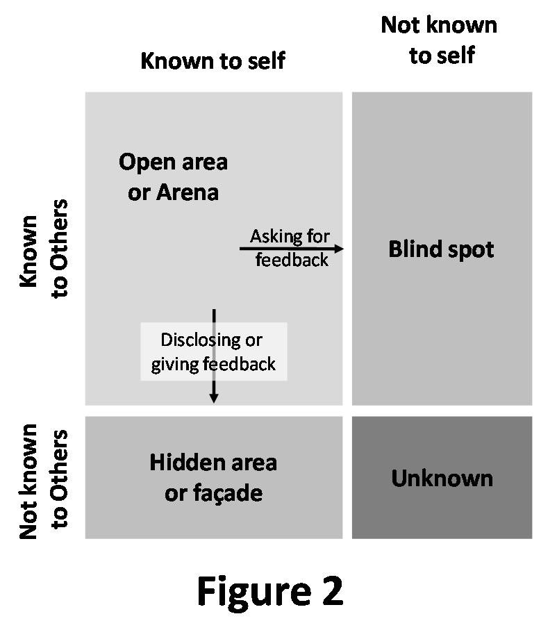 example of johari window Coaching with the johari window blog, coach's casebook, coaching the johari window is a useful tool to apply in the coaching domain good examples of this behaviour are how we limit what we say and perhaps tell little 'white lies' to protect the feelings of others.