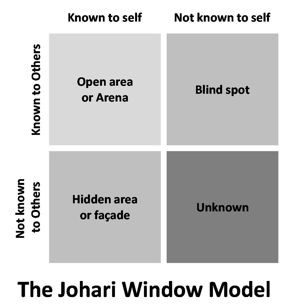 Innovation brings success the johari window model for Window quadrant